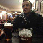 Ray inside the pub
