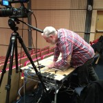 Chris setting up the live stream