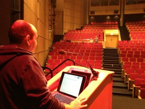 Dave Bhella practicing his Wildy talk