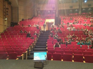 Audience coming in for live TWiM